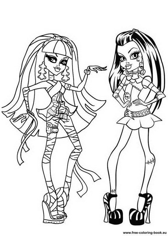 Coloring pages Monster High Page 1 Printable Coloring