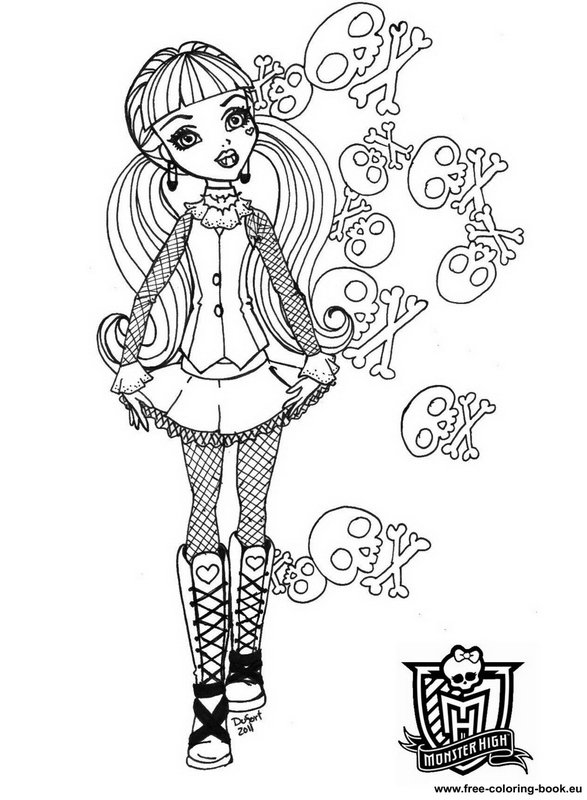 monster high printable coloring pages – Prnt | 800x587