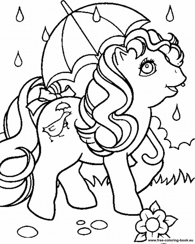 Coloring Pages Little Pony Page Printable