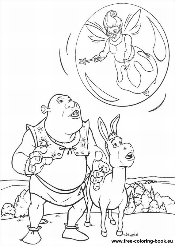 Coloring pages Shrek - Page 1 - Printable Coloring Pages Online
