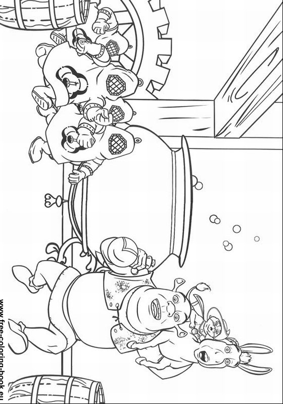 Coloring pages Shrek Page 1