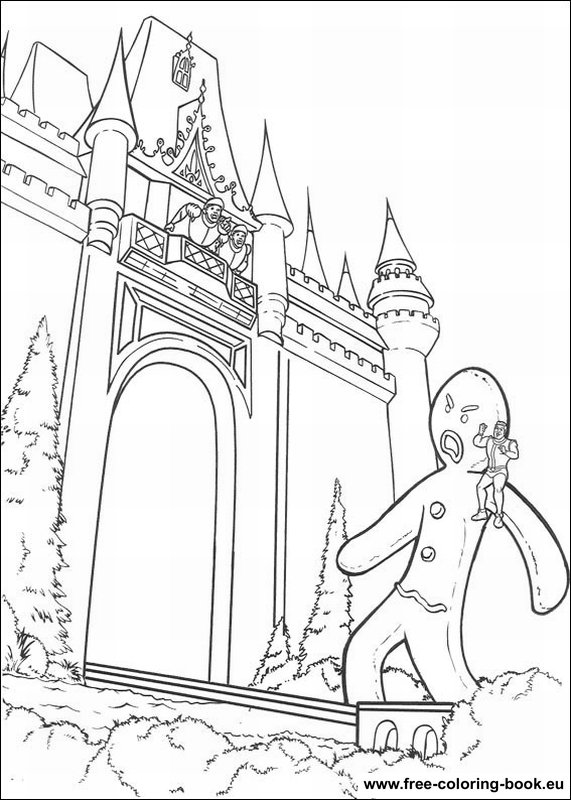 shreks house coloring pages - photo#34