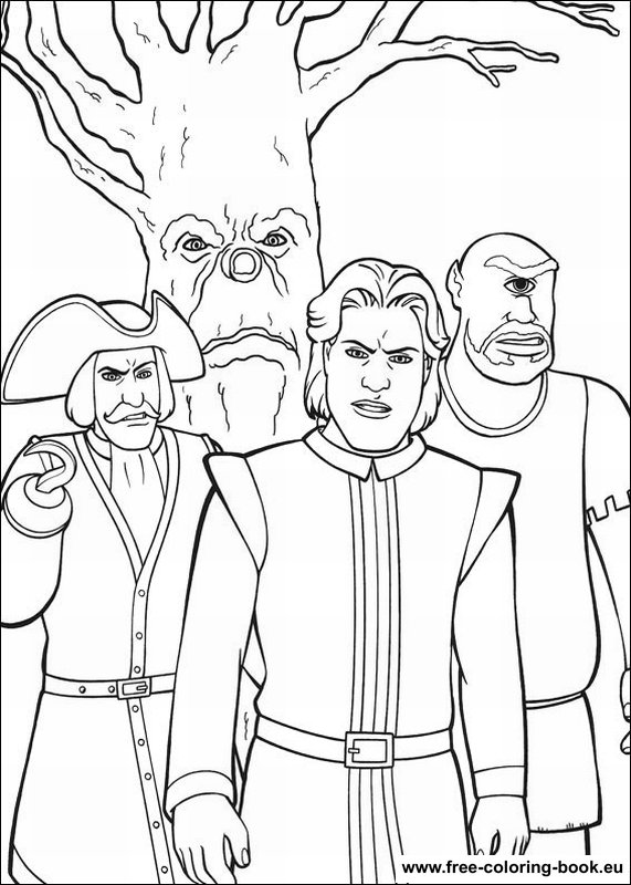shrek 3 coloring pages - photo#38