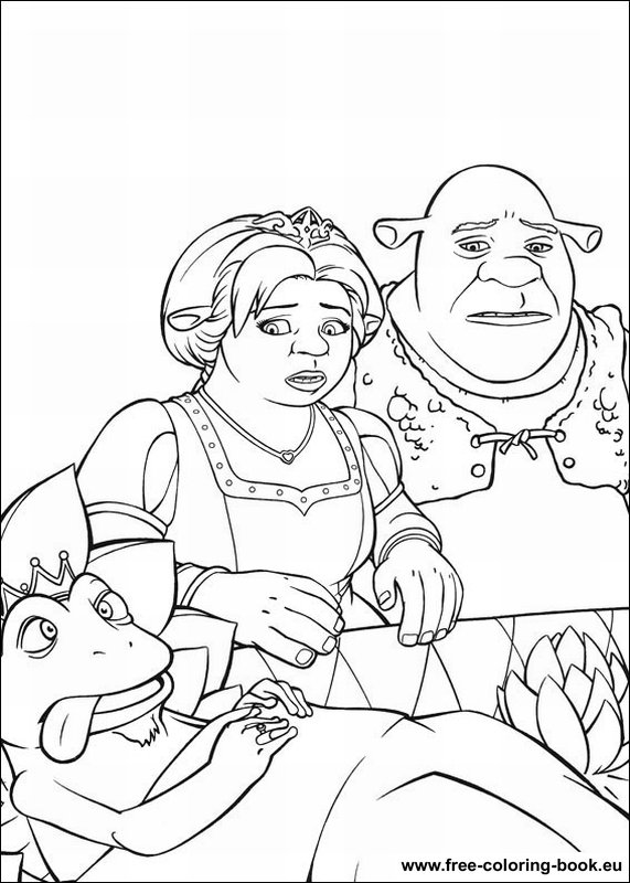 shreks house coloring pages - photo#42