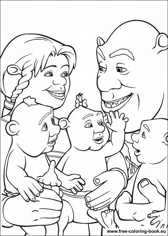 schreak coloring pages free - photo#13