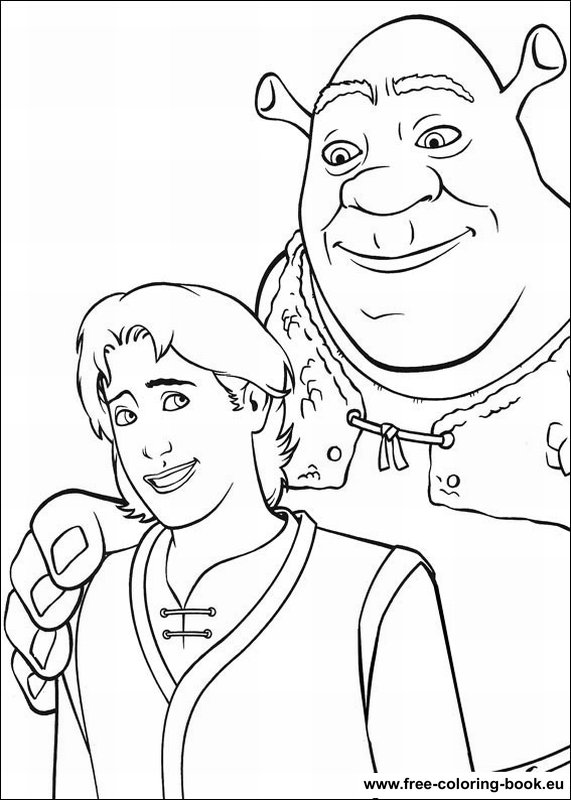 Coloring Pages Shrek Page 3 Printable Coloring Pages