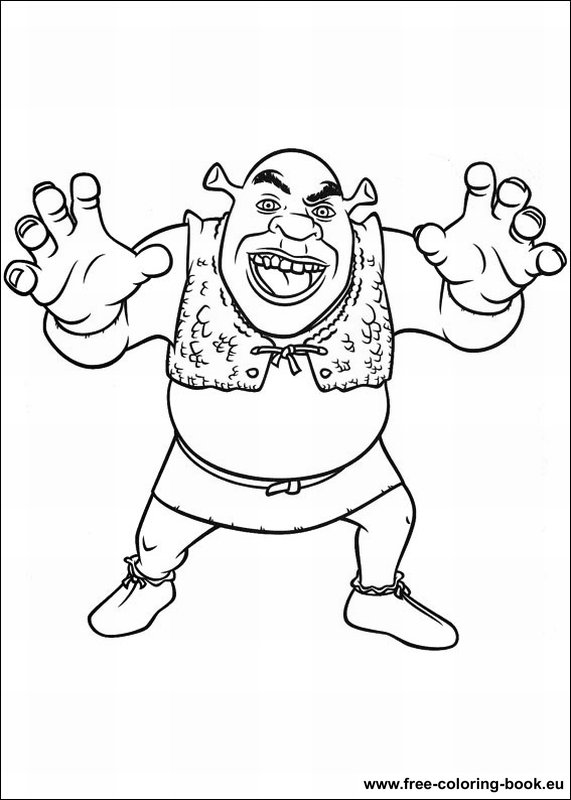 Coloring pages shrek page 3 printable coloring pages for Shrek coloring page