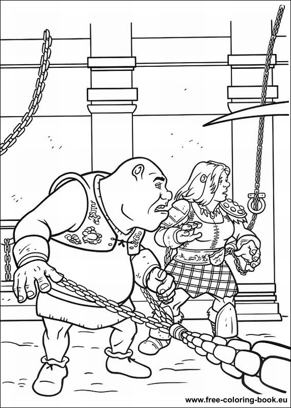Coloring pages Shrek Page 4
