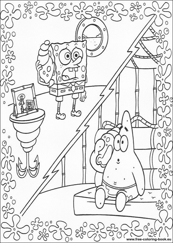 Coloring Pages Spongebob Page 2 Printable Coloring