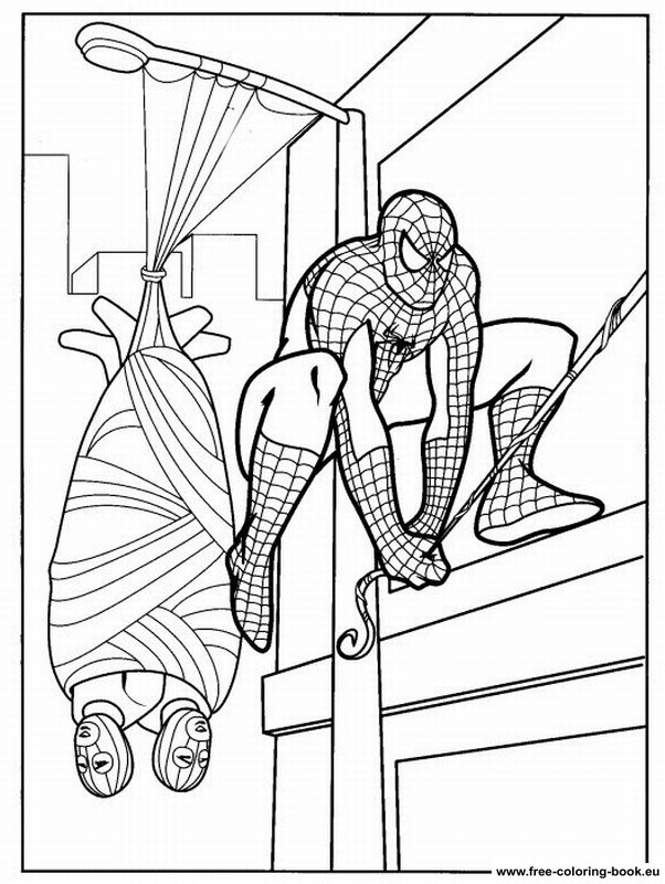 Coloring pages Spiderman - Page 1 - Printable Coloring Pages Online