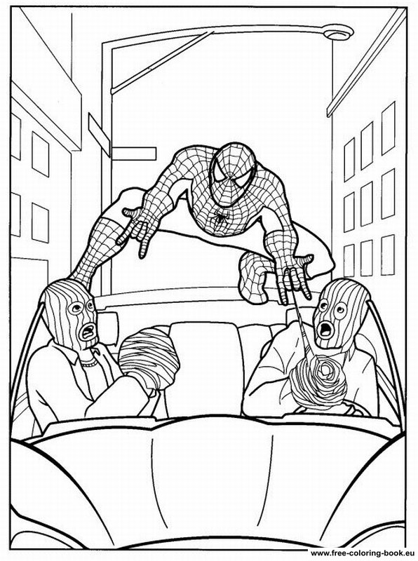 coloring pages spiderman - page 1