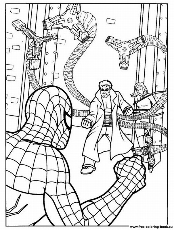 spiderman two coloring pages | Coloring pages Spiderman - Page 1 - Printable Coloring ...