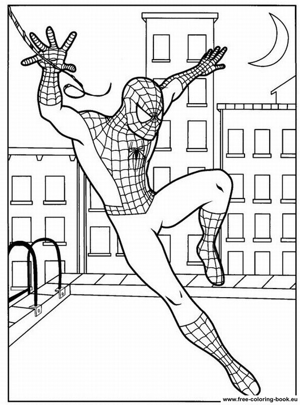 Coloring pages spiderman page 1 printable coloring pages online - Coloriage spiderman 1 ...