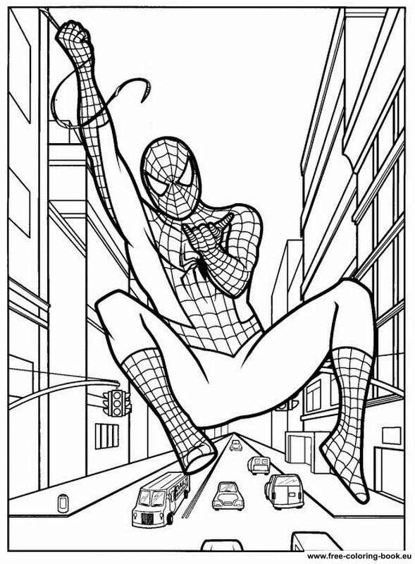 Coloring pages spiderman page 2 printable coloring for Spiderman coloring book pages