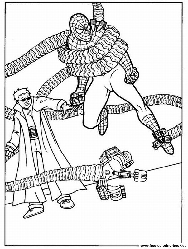 spiderman two coloring pages | Coloring pages Spiderman - Page 2 - Printable Coloring ...