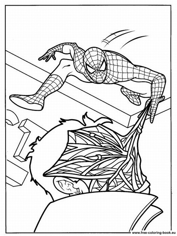 full page coloring pages spiderman 3 | Coloring pages Spiderman - Page 2 - Printable Coloring ...