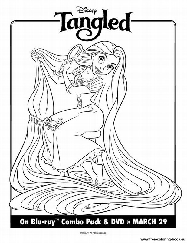 It's just a picture of Rapunzel Printable Coloring Pages in outline