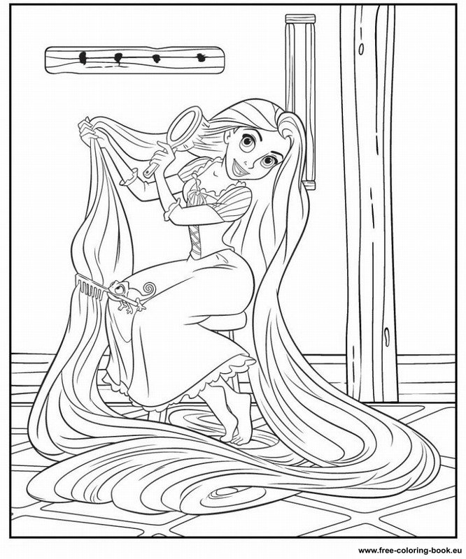 tangled coloring pages disney - photo#19