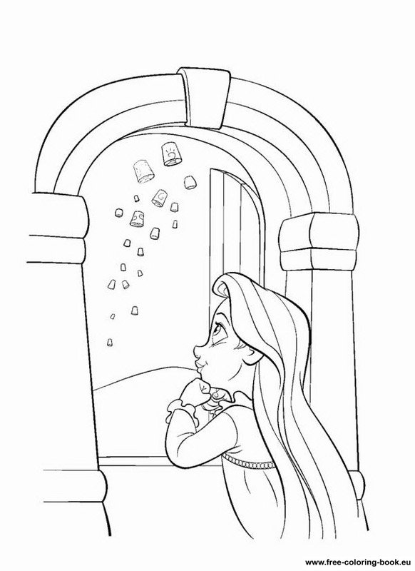 Coloring pages Tangled Disney