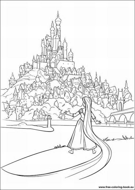 Coloring pages Tangled (Disney) - Rapunzel - Page 2 - Printable ...