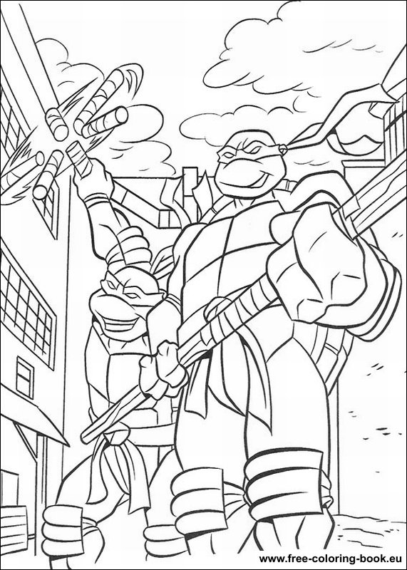 Coloring pages teenage mutant ninja turtles tmnt page for Coloring pages turtles ninja