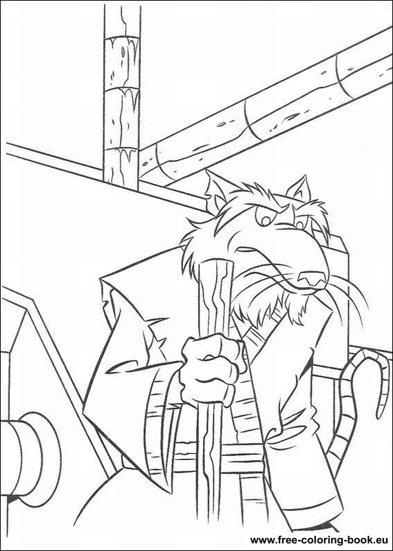 Coloring pages Teenage Mutant Ninja Turtles TMNT Page