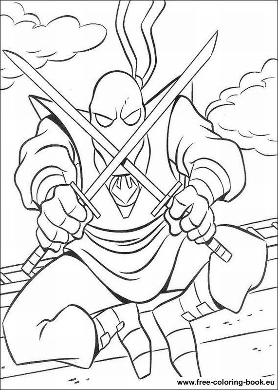 Coloring pages Teenage Mutant Ninja Turtles (TMNT) - Page ...