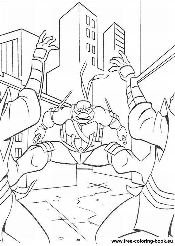 Coloring Pages Teenage Mutant Ninja Turtles Tmnt Page