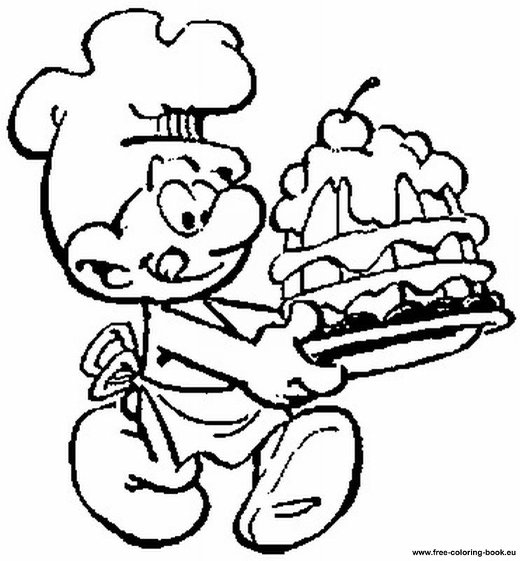 smurf printable coloring pages - photo#11