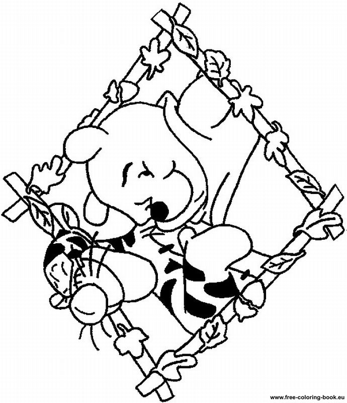 pooh baire coloring pages - photo#20