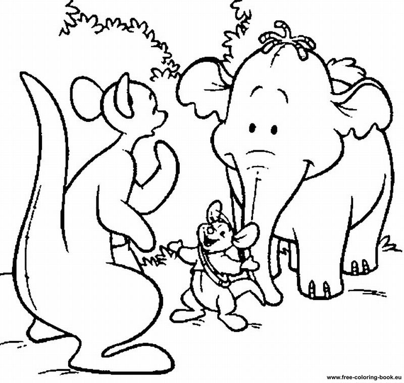 pooh baire coloring pages - photo#8