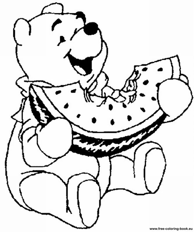 pooh baire coloring pages - photo#31