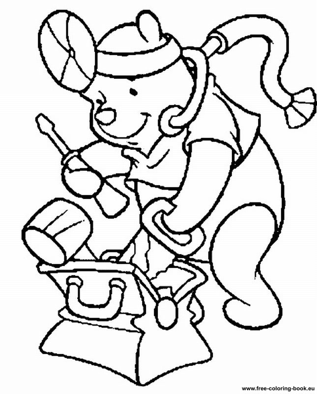 pooh baire coloring pages - photo#5