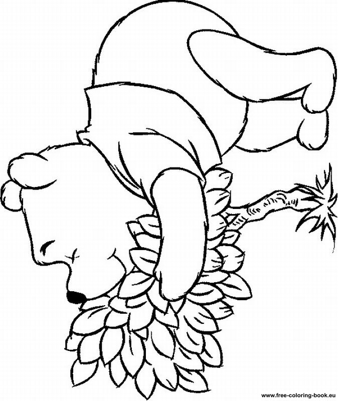 pooh baire coloring pages - photo#9
