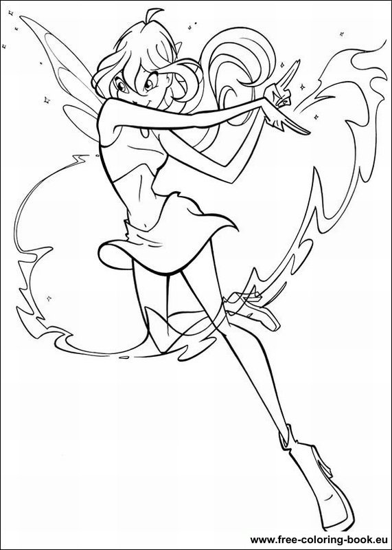 Coloring pages winx club printable coloring pages online for Winx coloring pages online